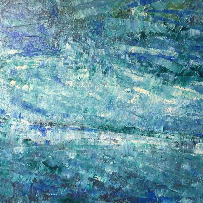 La mer I, 50x60, olej, 2017, PREDANÝ