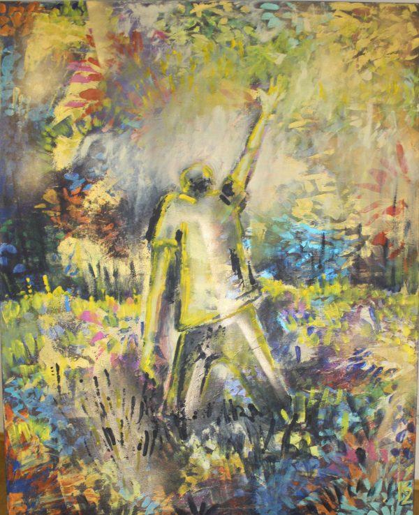 Modlitba, 100x80, komb. technika, 2017, PREDANÝ