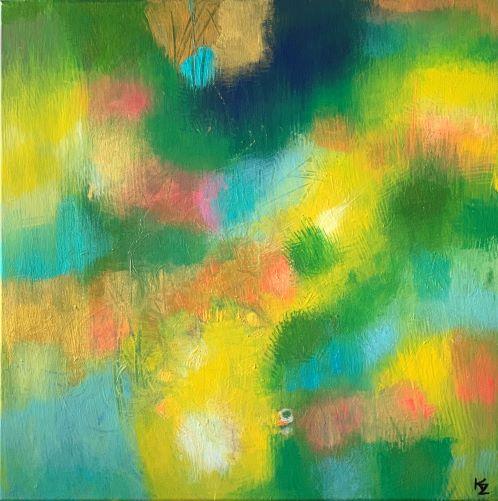 Maľované letom, 50x50, akryl, 2020